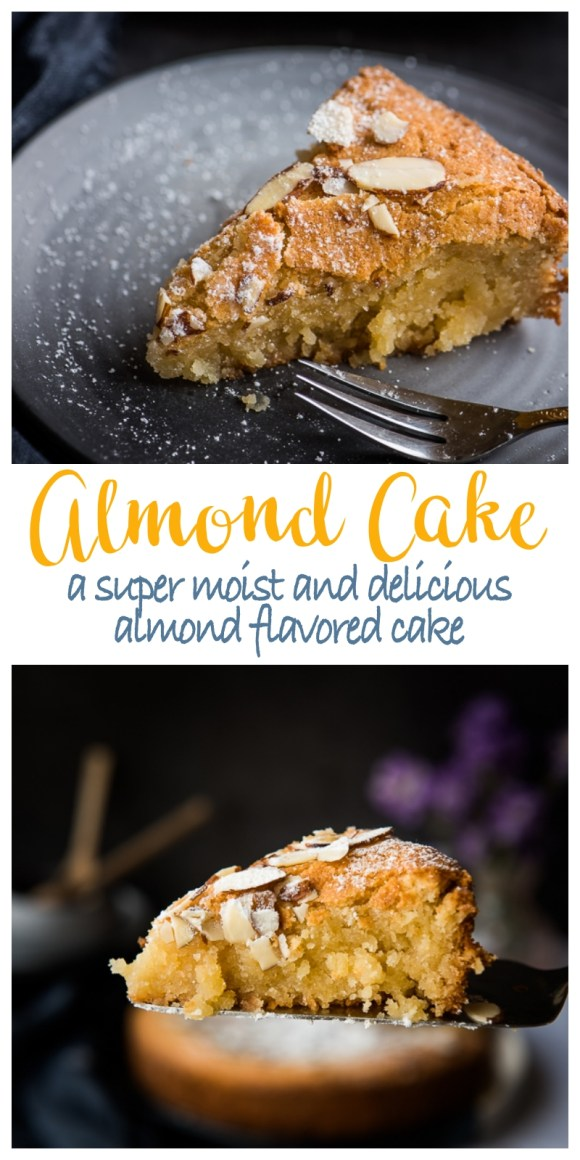 A moist and delicious almond flavored cake