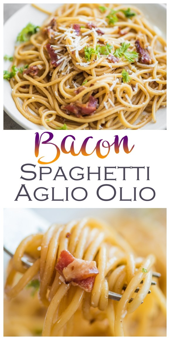 Bacon Spaghetti Aglio Olio