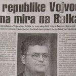 Tako je govorio Čanak: Bez Republike Vojvodine nema mira na Balkanu