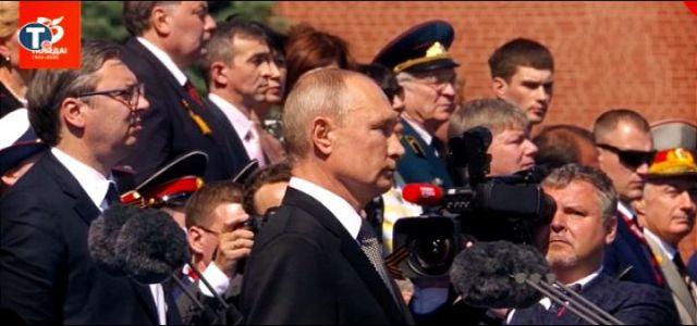 Vojna parada u Moskvi; Putin dočekao Vučića (VIDEO)