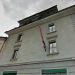 Ustaški grafiti na srpskom konzulatu u Cirihu