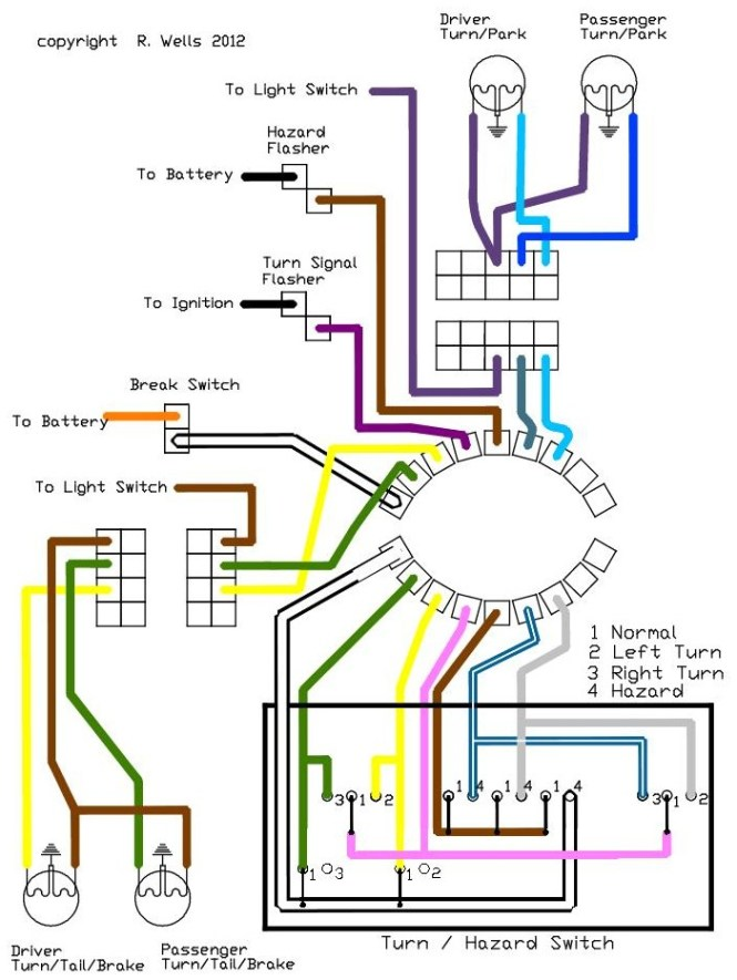 turn signal wiring diagram wiring diagram installing turn signals electricscooterparts support wiring diagram for grote turn signal switch