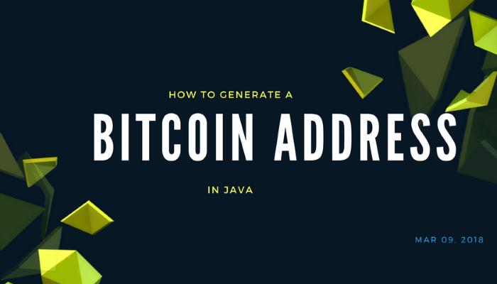 How to Generate Bitcoin Addresses in Java | Novixys Software