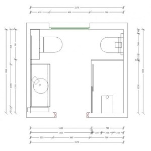 3053 Estudiar y valorar baño de 4 a 5 m2