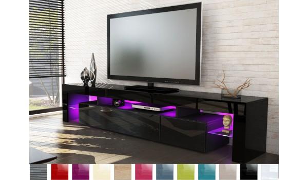 meuble tv design laque noir