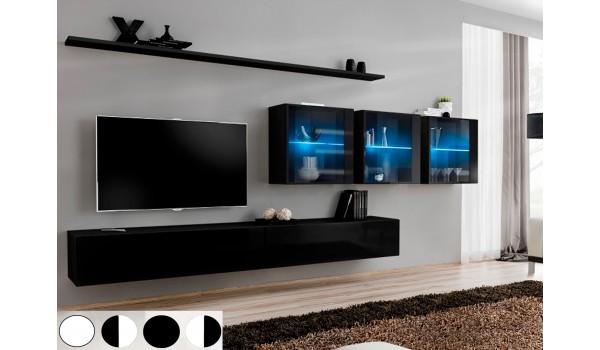 meuble mural tv design laque