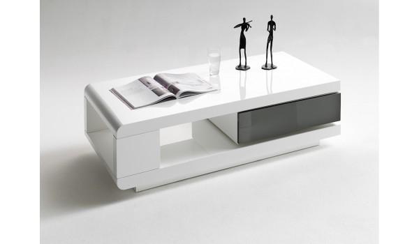 table basse avec tiroir amovible moderne