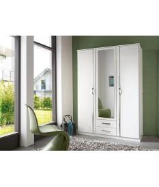 armoire blanche 3 portes 2 tiroirs