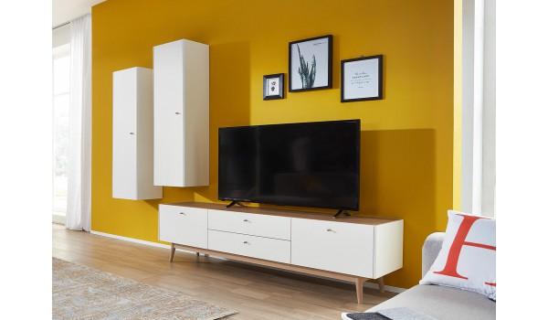 meuble tv scandinave et colonne murale