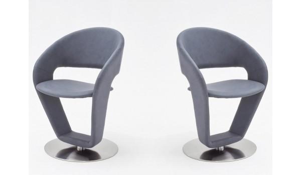 chaise de table design pivotante