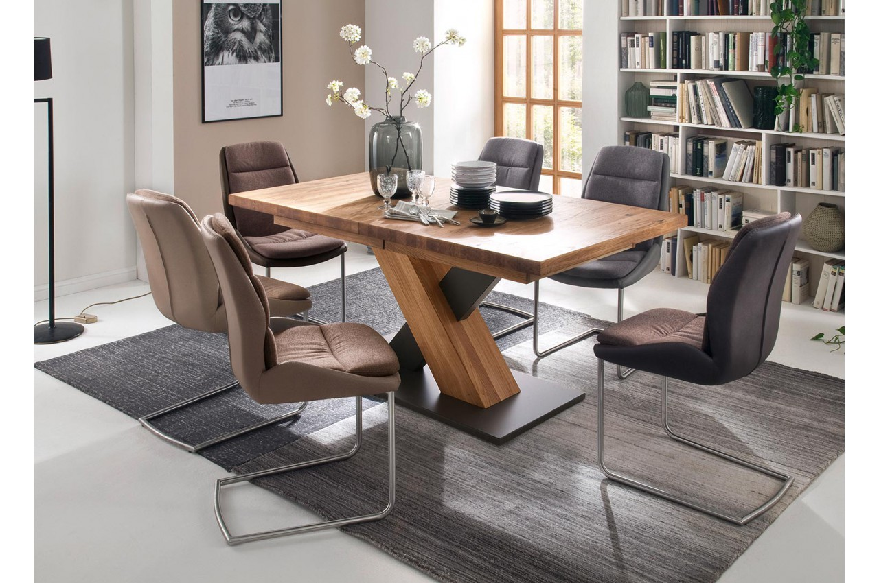table a manger bois massif extensible