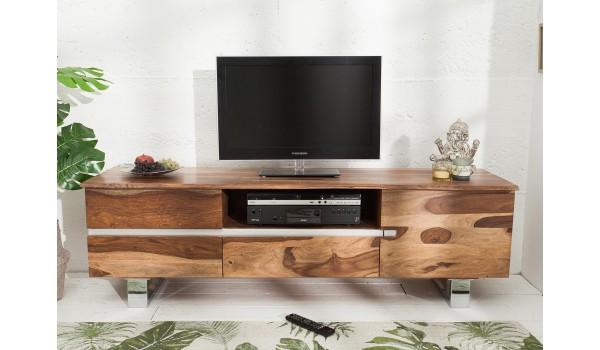 meuble tv design 160 cm bois massif