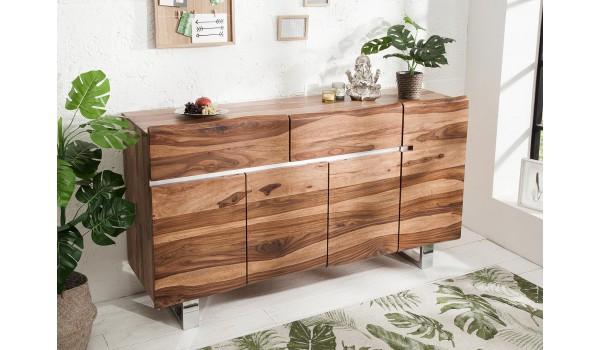 buffet design en bois massif exotique sesham