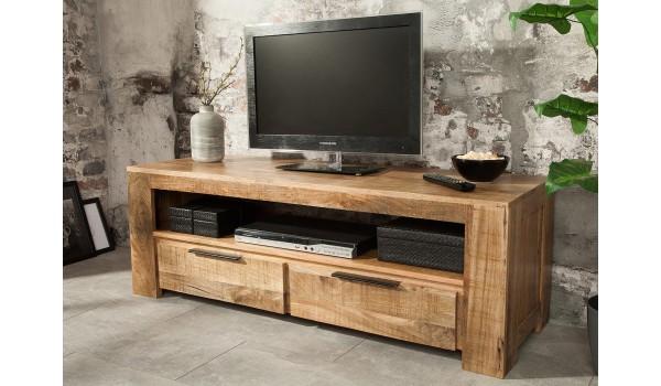 meuble tv en bois massif 130 cm