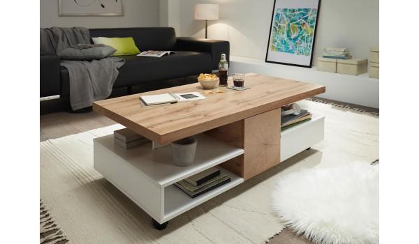 table basse design rectangulaire multiples rangements