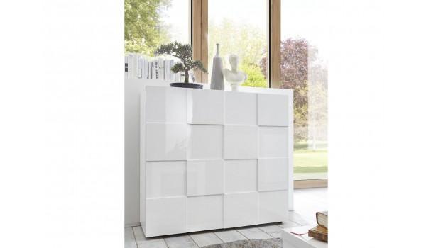 commode blanc laque design