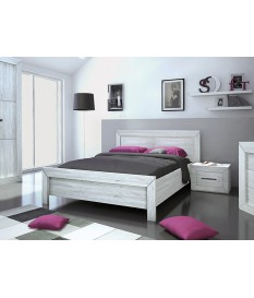 lit 2 places avec tete de lit et