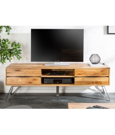 meuble tv en bois et metal industriel