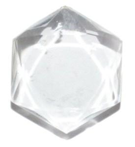 cristal de roche plat taillé