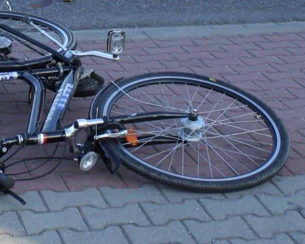 KPP Oświecim wypadek drogowy  rower