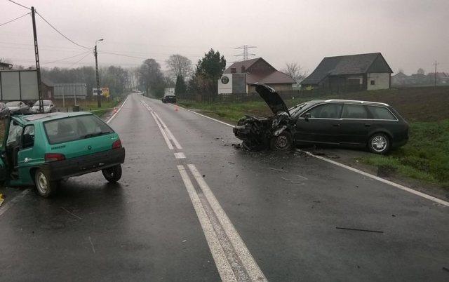 KPP Oświęcim Oświęcim wypadek drogowy śmiertelny 9.04.2016 (1)