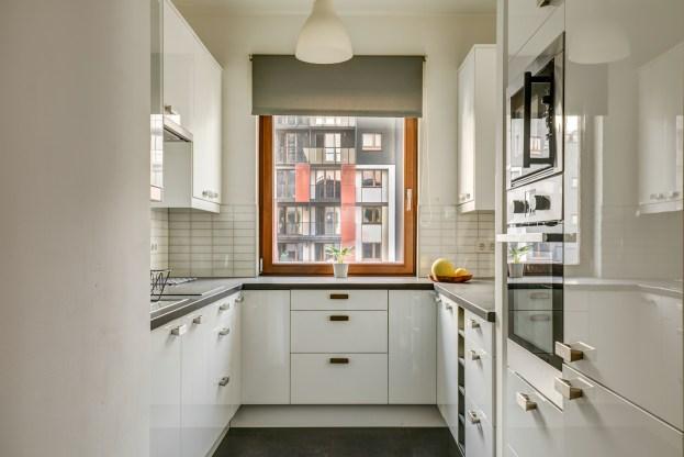 Zdjęcie architektury mieszkania przedstawiające kuchnię
