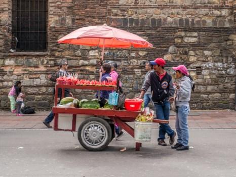 Stoisko z arbuzami, podróż po Bogocie
