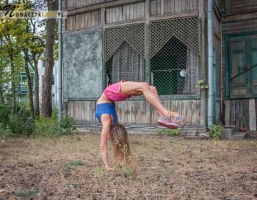 gimnastyka, kobieta