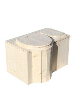 """Komposttoilette """"Der Schmetterling"""" · aus Fichte, unbehandelt · Sitz links"""