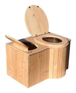 """nowato Komposttoilette """"Der Schmetterling"""" · aus Douglasie, unbehandelt · Sitz rechts"""