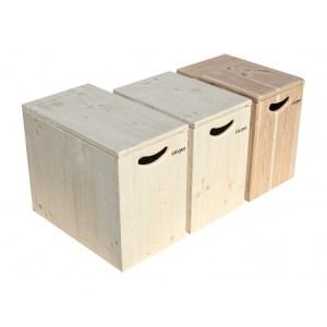Einstreukiste aus Holz: Fichte oder Douglasie, kurz oder lang, unbehandelt oder lackiert