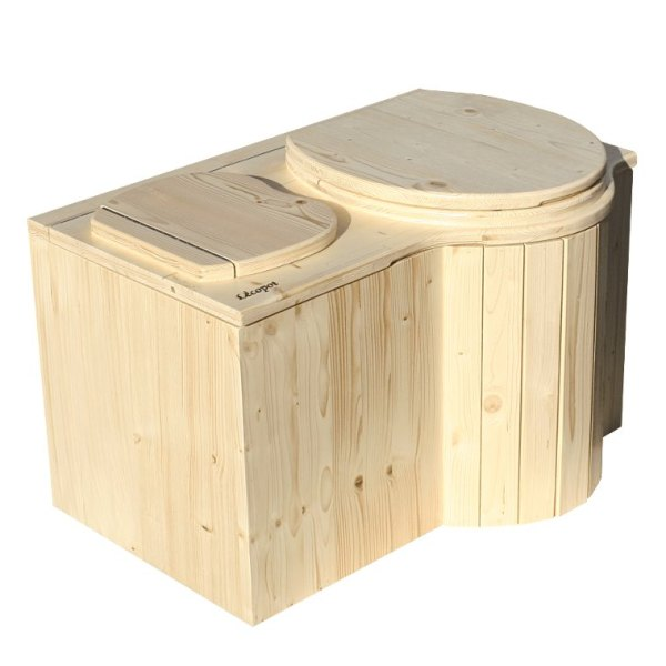 Komposttoilette 'Der Schmetterling' · aus Fichte, lackiert · Sitz rechts