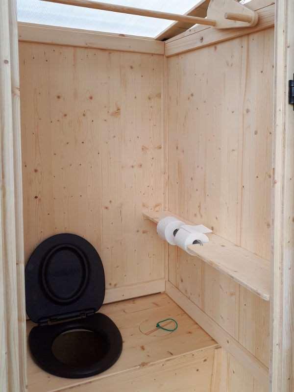 Komposttoilette Wiese Innenansicht
