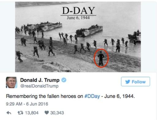Trump's D-Day Tweet Manifest Error