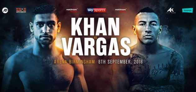 Watch Amir Khan vs Sammy Vargas on Sky Sports Live