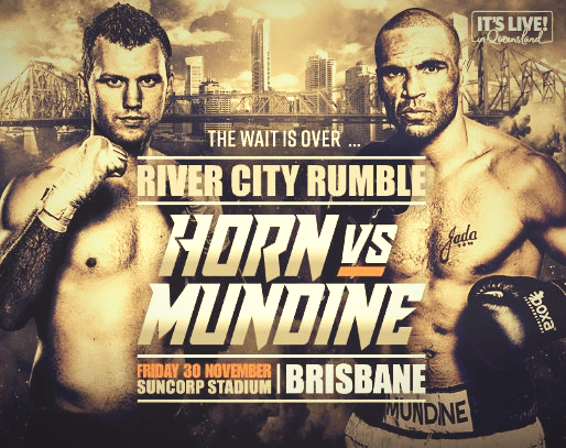 Mundine and Horn fight at weigh