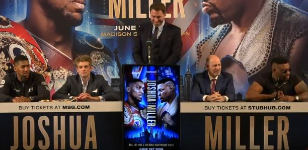 VIDEO: Anthony Joshua vs Jarrell Miller New York Fight Launch Press Conference