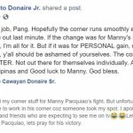 Nonito Donaire Sr. dropped last minute from working Pacquiao's corner