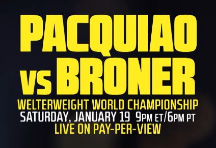 Manny Pacquiao vs Adrien Broner, Badou Jack vs Marcus Browne Live Online Showtime PPV