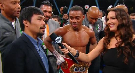 Photo: Errol Spence Jr. challenges Manny Pacquiao after beating a tough Mikey Garcia