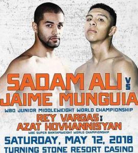 Sadam Ali vs Jaime Munguia, Vargas vs Hovhannisyan Championship Boxing Live on HBO