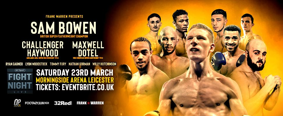 WATCH Sam Bowen vs Jordan McCorry, Challenger vs Haywood, Nathan Gorman, and Tommy Fury Online