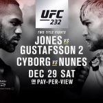 UFC 232 poster