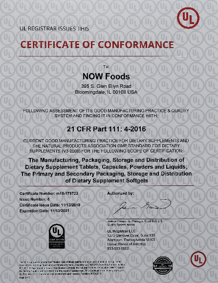 Now Foods Quality Assurance Read Now S Qualifications