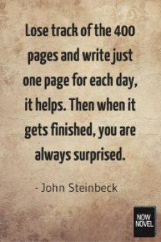 John Steinbeck writing advice