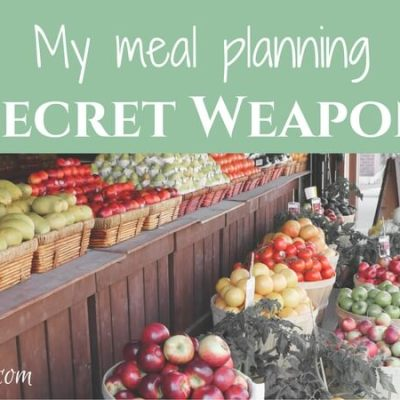 My meal planning secret weapon