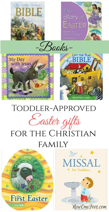 There are so many great Christ-themed Easter books out there perfect for your toddler. - NowOneFoot.com