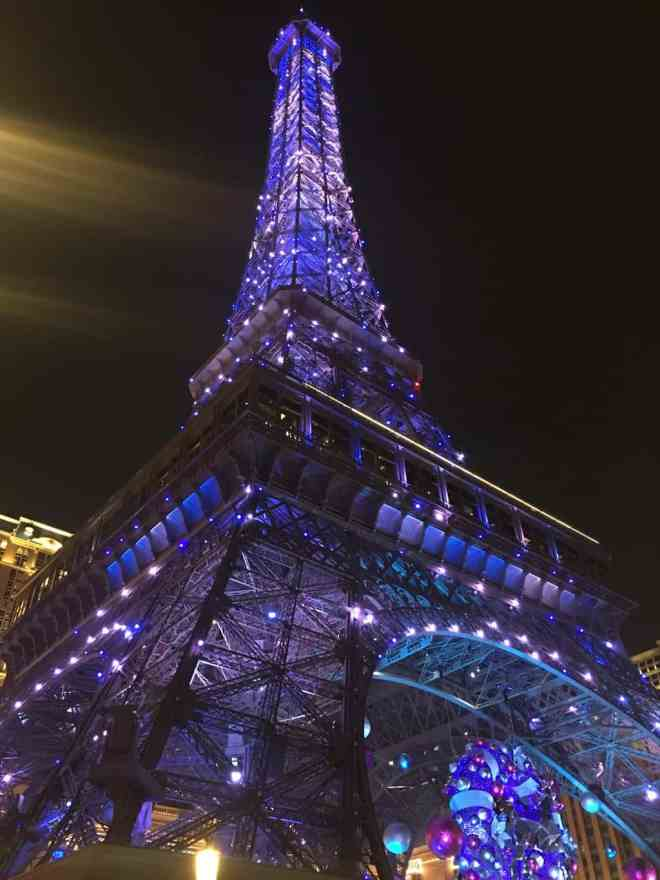 Night Shot of the Eiffel tower replica in The Parisian Macao