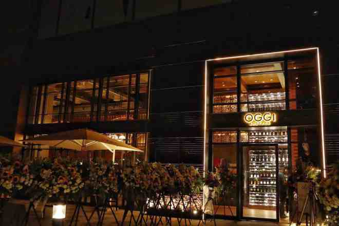 THE ENTRANCE OF OGGI ENOTECA, LOCATED IN THE HIP NEW UPPERHILLS AREA IN FUTIAN.