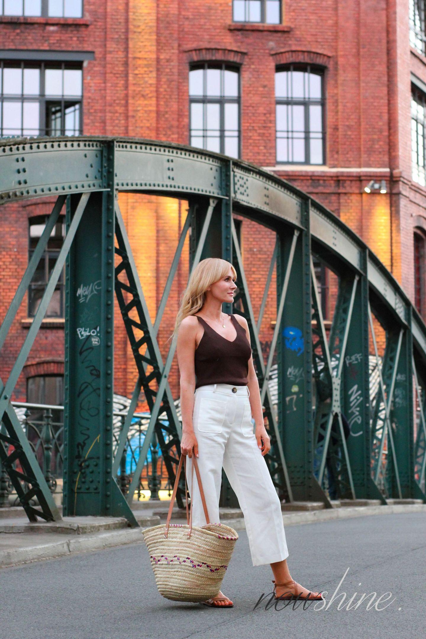 H&M Premium flache Sandalen in Cognac - Nowshine ü40 Fashion Blog